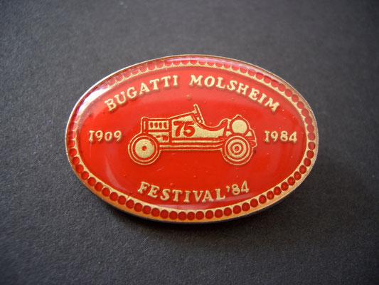 Festival BUGATTI Molsheim 1984 Brosche