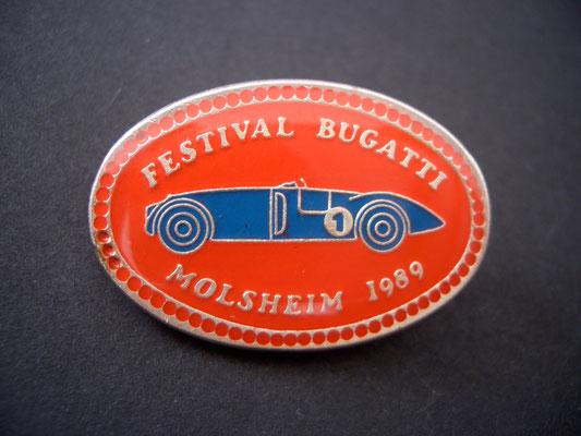 Festival BUGATTI Molsheim 1989 Brosche