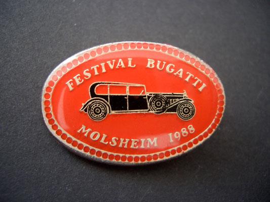 Festival BUGATTI Molsheim 1988 Brosche