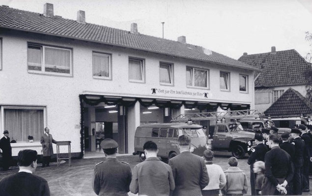 Einweihung des Feuerwehrhauses 1963