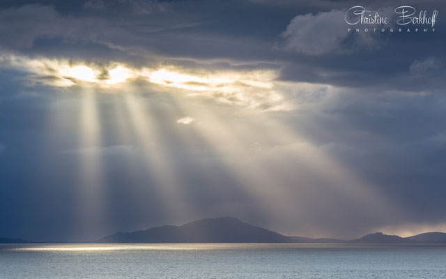 Blick auf die Äußeren Hebriden, Isle of Skye