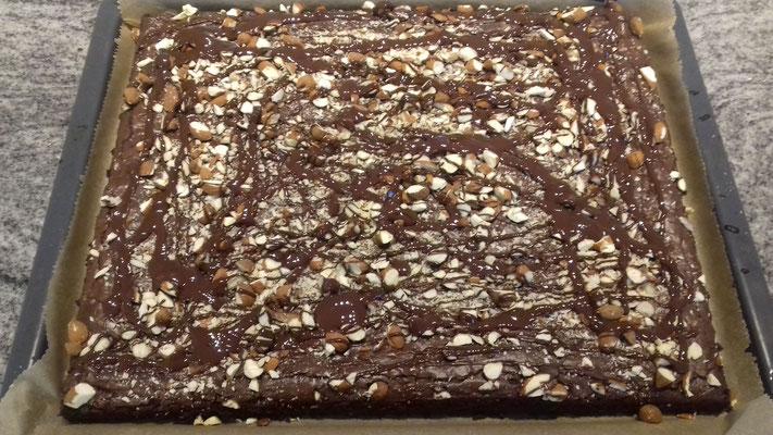 Brownie-Blechkuchen 1/2 (siehe Karpitel Entstehung!)