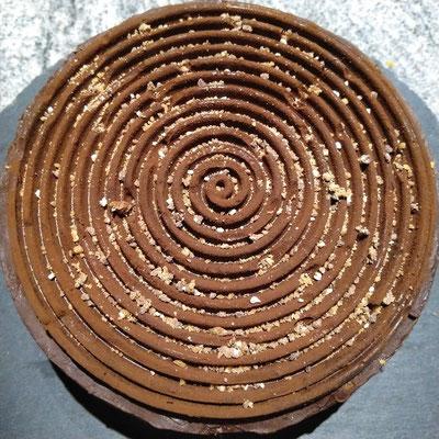 Einfacher Schokokuchen mit Schokospirale