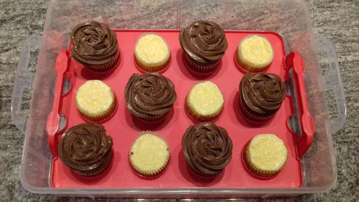 Zitronen-Frischkäse Cupcakes + Nuss-Nougat Cupcakes