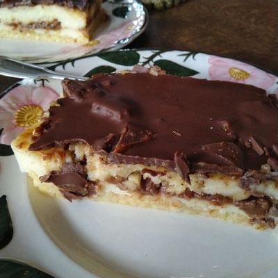 Daim-Pudding-Blechkuchen