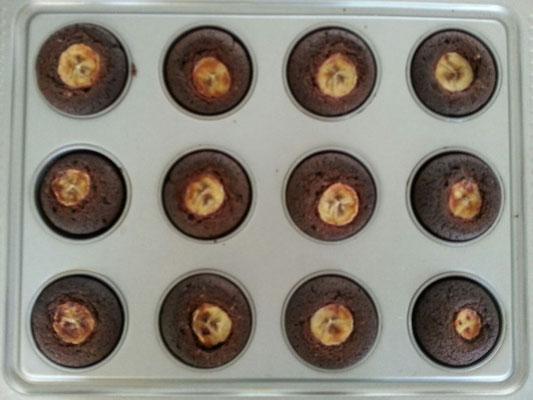 Schoko-Bananen Cupcakes 2/2
