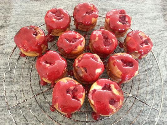 Mini Himbeer-Cheesecakes 1/2