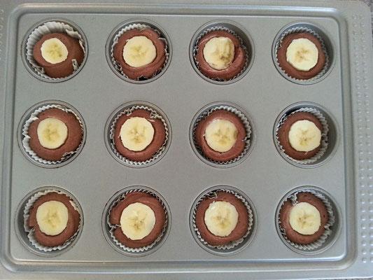 Schoko-Bananen Cupcakes 1/2