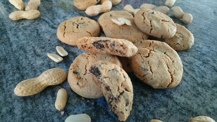 Erdnusscookies 1/3