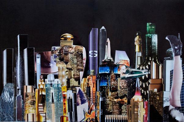 Night Beauty #2 - Handcut Paper Collage (45cm x 30cm) © Edel Seebauer