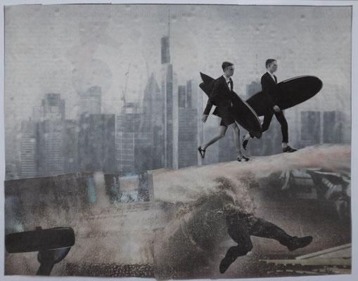 Sweep - von Handcut Paper Collage (31cm x 24cm) © Edel Seebauer