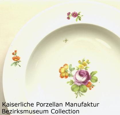 Teller der Kaiserlichen Porzellan-Manufaktur von 1784. Schenkung eines Münchener Ehepaares. (Sammlung Bezirksmuseum Alsergrund)