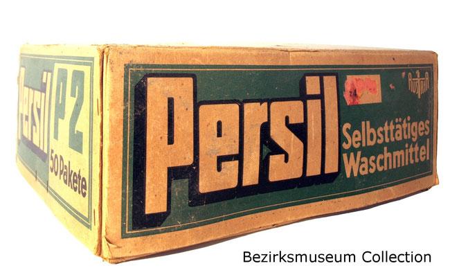 Persil-Schachtel um 1940 - Sammlung Bezirksmuseum Alsergrund.