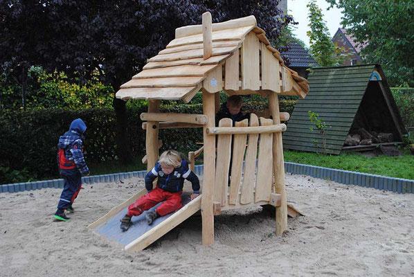 """©ghepetto │ Motorikplattform """"Lütte Hütte"""" 1 - Ansicht 2 │Artikelnummer 30264"""