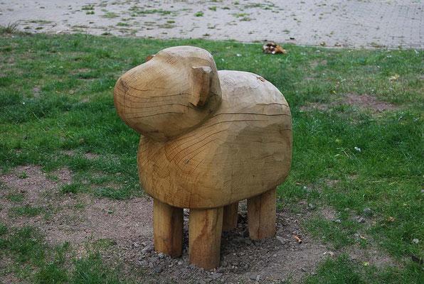 ©ghepetto │ Bauernhoftiere: Schaf (stehend unbemalt)