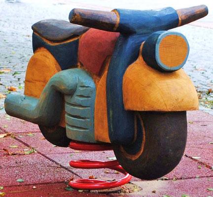 ©ghepetto │ Motorrad als Wipptier - Ansicht 1 │Bestellnummer: 30273