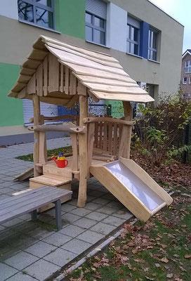 """©ghepetto │ Motorikplattform """"Lütte Hütte"""" 3 │Artikelnummer 30264"""