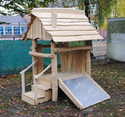 """©ghepetto │ Motorikplattform """"Lütte Hütte"""" 2 - Ansicht 1 │Artikelnummer 30264"""