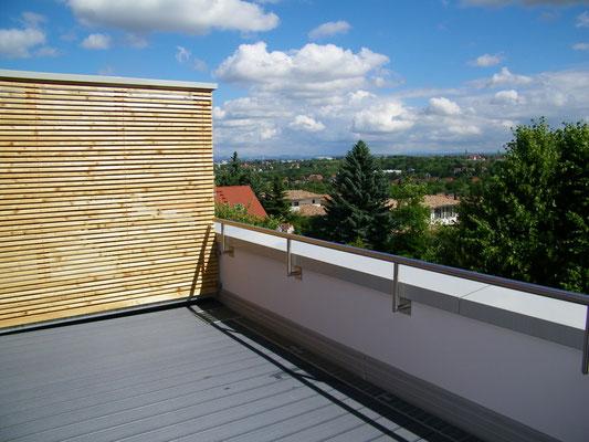 Dachterrasse Blickrichtung SO