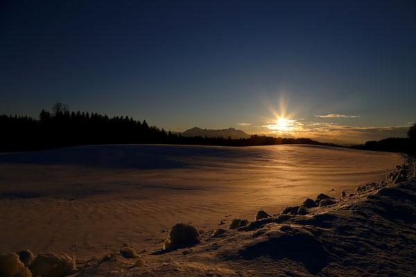 Schneelandschaft bei Erlstätt