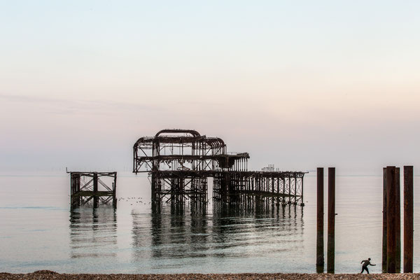 Brighton West Pier - 2002 abgebrannt