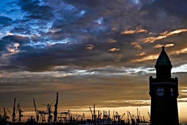 Hamburg - Hafensilhouette