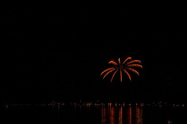 Feuerwerk über Seebruck