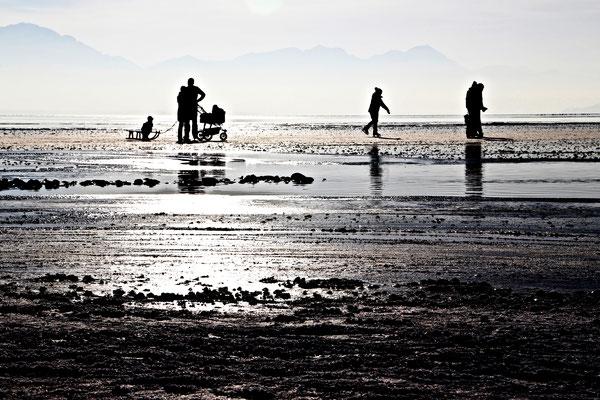 Winterfreuden auf dem gefrorenen See