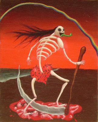 死神 油絵 F3号(2000年)