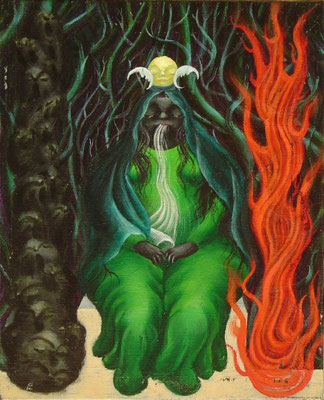 女教皇 油絵 F3号(2000年)