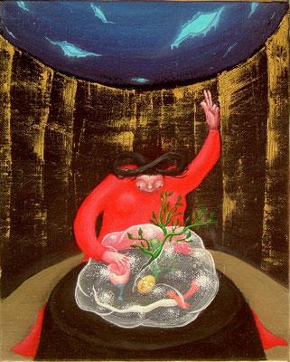魔術師 油絵 F3号(2000年)