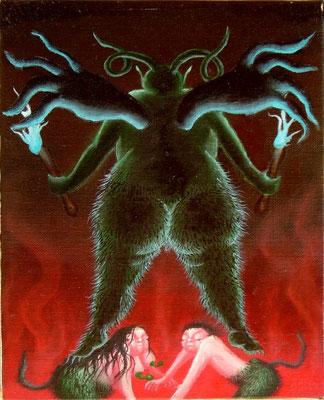 悪魔 油絵 F3号(2000年)