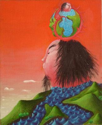 皇帝 油絵 F3号(2000年)