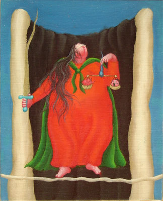 正義 油絵 F3号(2000年)