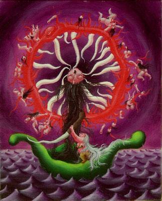 運命の輪 油絵 F3号(2000年)
