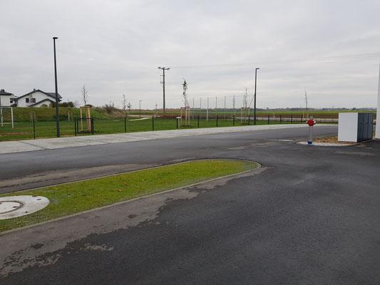 Übungsplatz und Parkplatz
