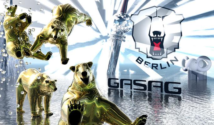 ICE BEARS BERLIN, 2009 (Aluminium)