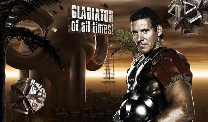 GLADIATOR OF ALL TIMES!, 2010 (Aluminium)