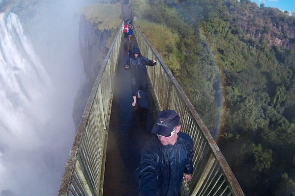 Walking the Victoria Falls