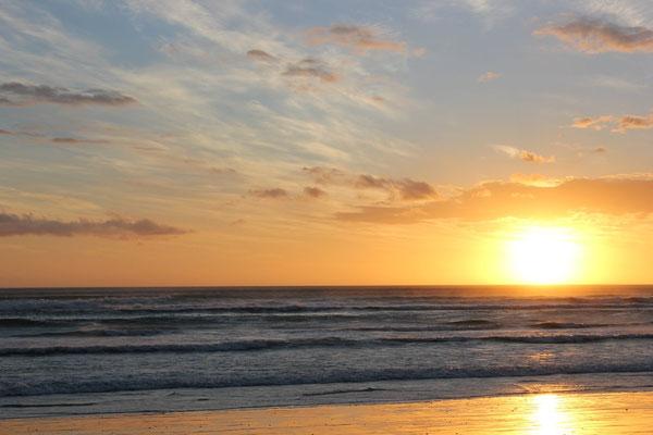 Sonnenuntergang Walkers Bay Südafrika