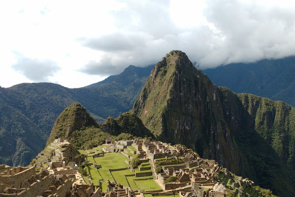 Blick auf Machu Picchu vom Sonnentor