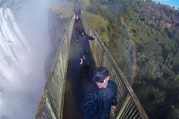 Entlang der Victoria Wasserfälle