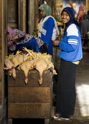 Traditioneller Markt im Dieng-Plateau