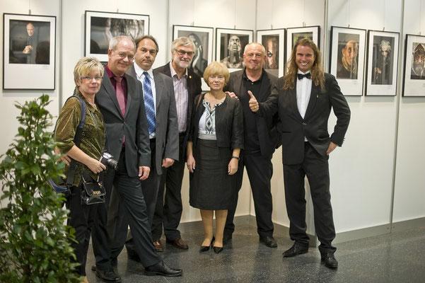 Gruppenbild der Saarländer mit Chris Hinterobermaier