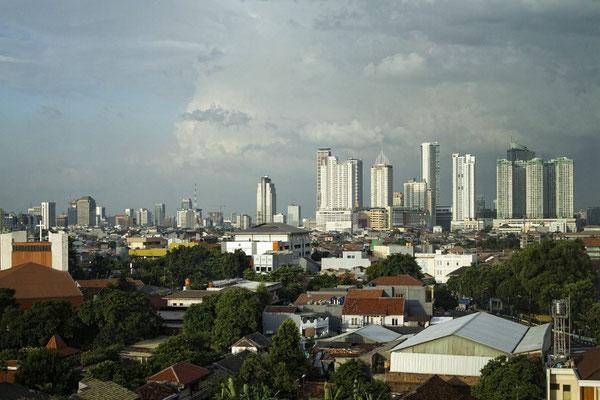 Blick auf Jakarta
