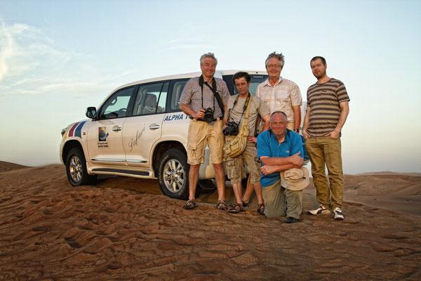 In der Wüste mit Willy Borgfeld, Oscar, Helmut und Pierre Evrard