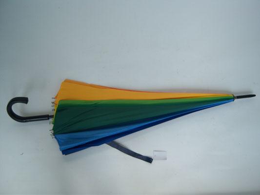 601 Golf 16 baleines et couleurs diamètre 130 cm poignée courbe plastique