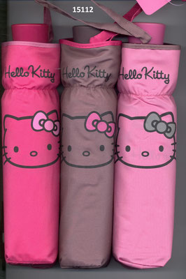 15112 Mini parapluie Hello Kitty à ouverture manuelle uni set de 3