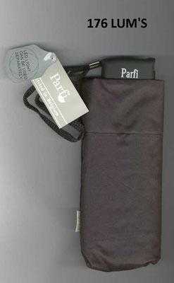 176 Parfi Lum's noir uni avec lampe LED