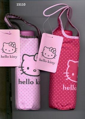 15110 Mini parapluie Hello Kitty à ouverture manuelle set de 2